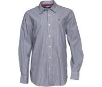 Crew Clothing Herren Classic Hemd mit langem Arm Blau