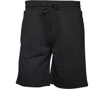 JACK AND JONES Herren Quilt Shorts Schwarz