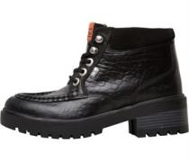 Kickers Womens Kickmando Hi Leather Boot Black/Orange