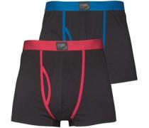 Herren Boxershorts Schwarz/Blau/Rot