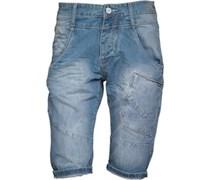 883 Police Herren Howard wash Denim Shorts Hellblau