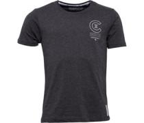 Herren Bravo T-Shirt Charcoal Marl