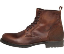 JACK AND JONES Mens Sting Leather Boot Friar Brown