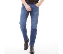 Stretch Denim Jeans mit geradem Bein Verblasstes Mittel