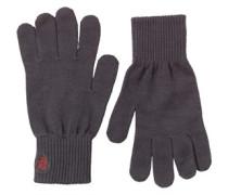Herren Rib Handschuhe Grau