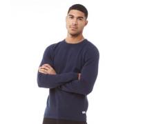 Basic Pullover mit Rundhalsausschnitt Navy