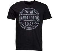 Herren Beach Print T-Shirt Schwarz
