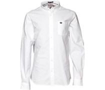 Brave Soul Herren Pompeii Optic Hemd mit langem Arm Weiß