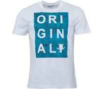Herren Original Cut Out Parrot Print T-Shirt Weiß