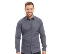 Druck Hemd mit langem Arm Dunkelblau