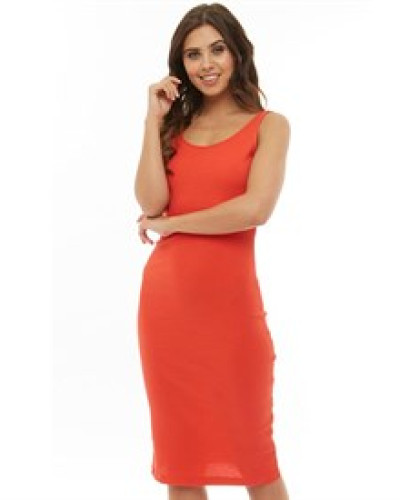 Ribby Kleid Rot