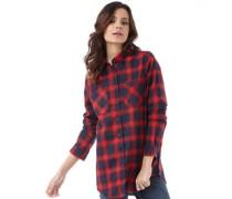 Damen Billie Flannel Bluse Mit Langem Arm Rot