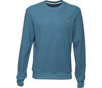 Herren Ashcroft Waffle Sweatshirt Blau