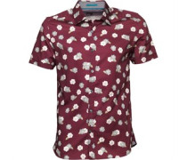 Ted Baker Mens Belleek Floral Print Shirt Red