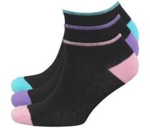 Damen Paula Drei Pack Socken Schwarz