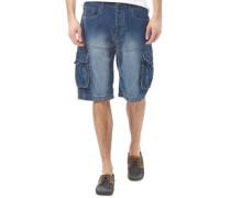 Herren Denim Cargo Shorts Gewaschtes Steingrau