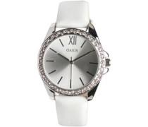 Oasis Womens Diamante Watch White