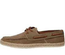 Suede With Rope Foxing Segelschuhe Taupe