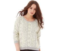 French Connection Damen Candy Boa Winter Pullover mit Rundhalsausschnitt Weiß