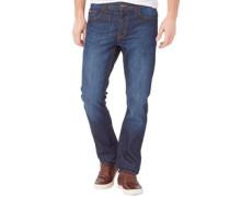 Herren Basicon Jeans mit geradem Bein Dunkelblau