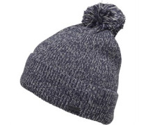 Herren Twist Yam Bobble Beanie Mütze Blau