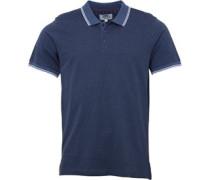 Mens Circle Jaquard Polo Shirt Indigo