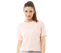 Classic Logo Oversized Cropped T-Shirt Pfirsich