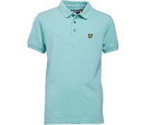 Lyle And Scott Boys Classic Marl Polo Mint Green
