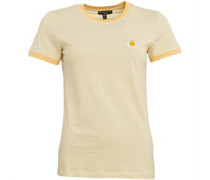 Daisy Embroidered T-Shirt Gelb