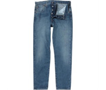 Herren 501 Customized Tape Jeans mit zulaufendem Bein Blau