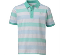 Original Penguin Junior Birdeye Stripe Polo Bright White
