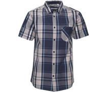 Herren Yarn Dyed Hemd mit kurzem Arm Blaukariert
