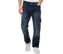 Herren Saddle Jeans in Slim Passform Navy