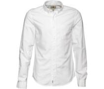 Herren Pleasant River Dobby Hemd mit langem Arm Weiß