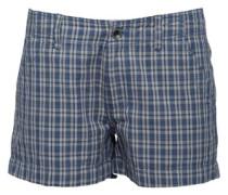 Damen Cargo Shorts Blaukariert