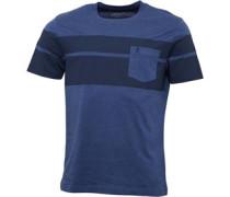 Herren Placed Print T-Shirt Dunkelnavy