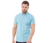 Baumwolle Leinen Hemd mit kurzem Arm Hell