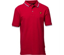Boys Red Tipped Short Sleeve Polo Royal Red