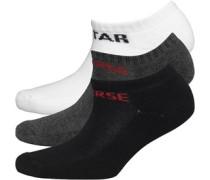 Converse Junior Three Pack Socks Vintage Grey Heather