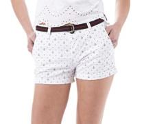 Damen Printed Boy Shorts Weiß