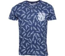 Herren Gull T-Shirt Blau