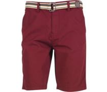 Kangaroo Poo Herren Chino Shorts Rot