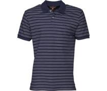 Herren Pique Stripe Polohemd Navy
