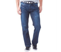 Crosshatch Herren Baltimore ed wash Jeans in regulär Passform Blau