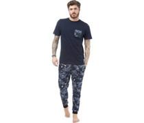 Herren Loungewear-Set Blau Tarnfarbe