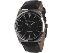 Herren Quartz Strap Armbanduhr Schwarz