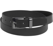 Ben Sherman Mens Formal Black Enamel Belt Black