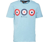 Ben Sherman Junior Target Printed T-Shirt Sky Blue Marl
