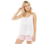 Damen Pout Pyjama Weiß