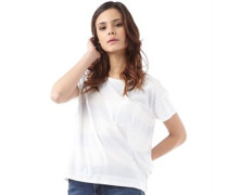 Damen Boyfriend T-Shirt Weiß